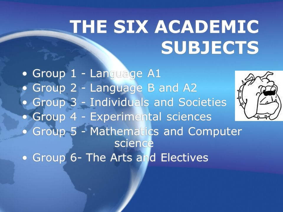 THE SIX ACADEMIC SUBJECTS