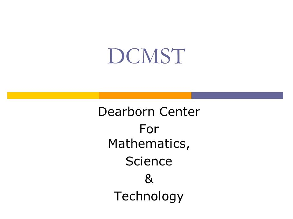 Dearborn Center For Mathematics, Science & Technology