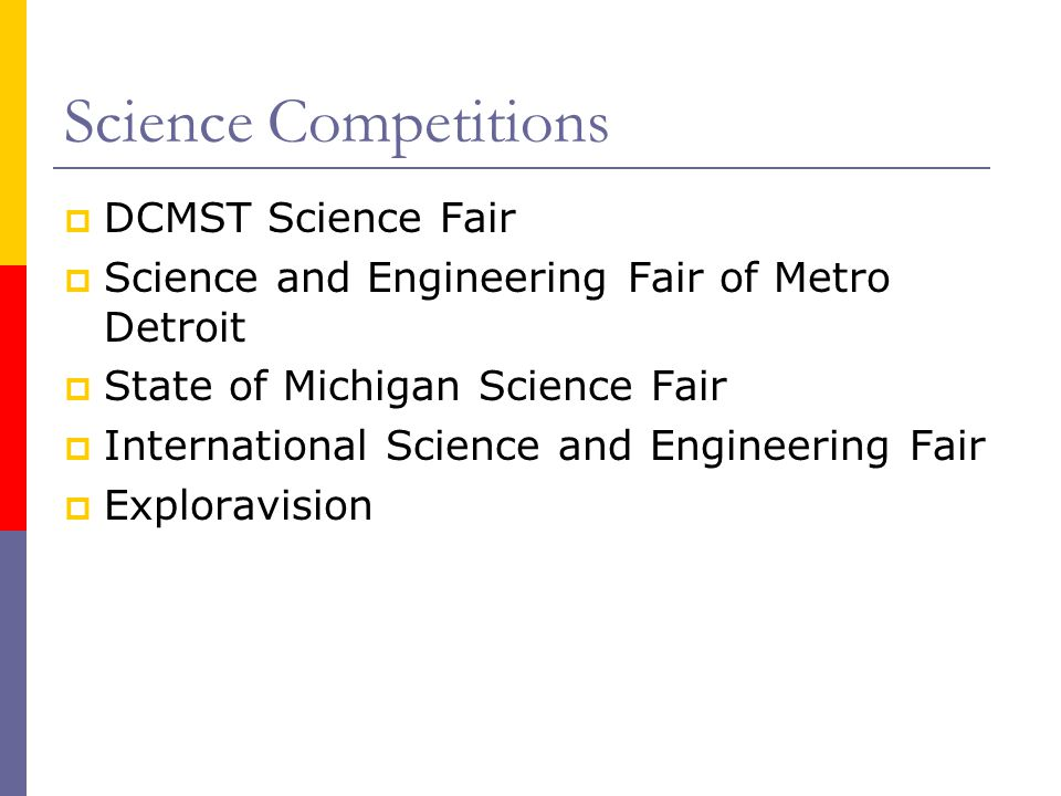 Science Competitions DCMST Science Fair