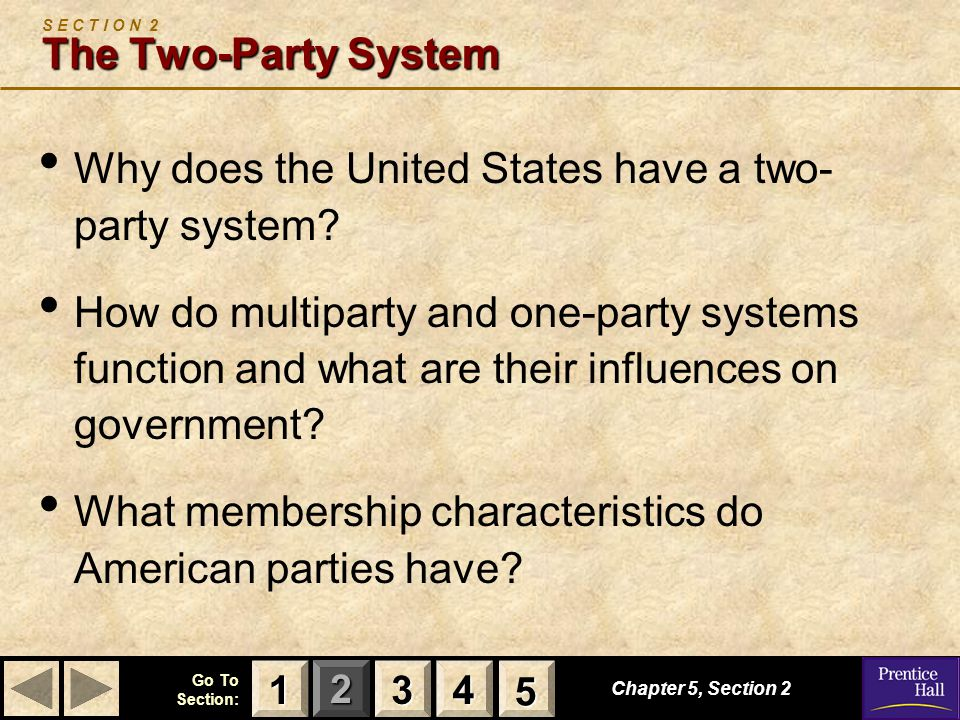 S E C T I O N 2 The Two-Party System