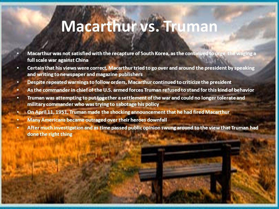Macarthur vs. Truman