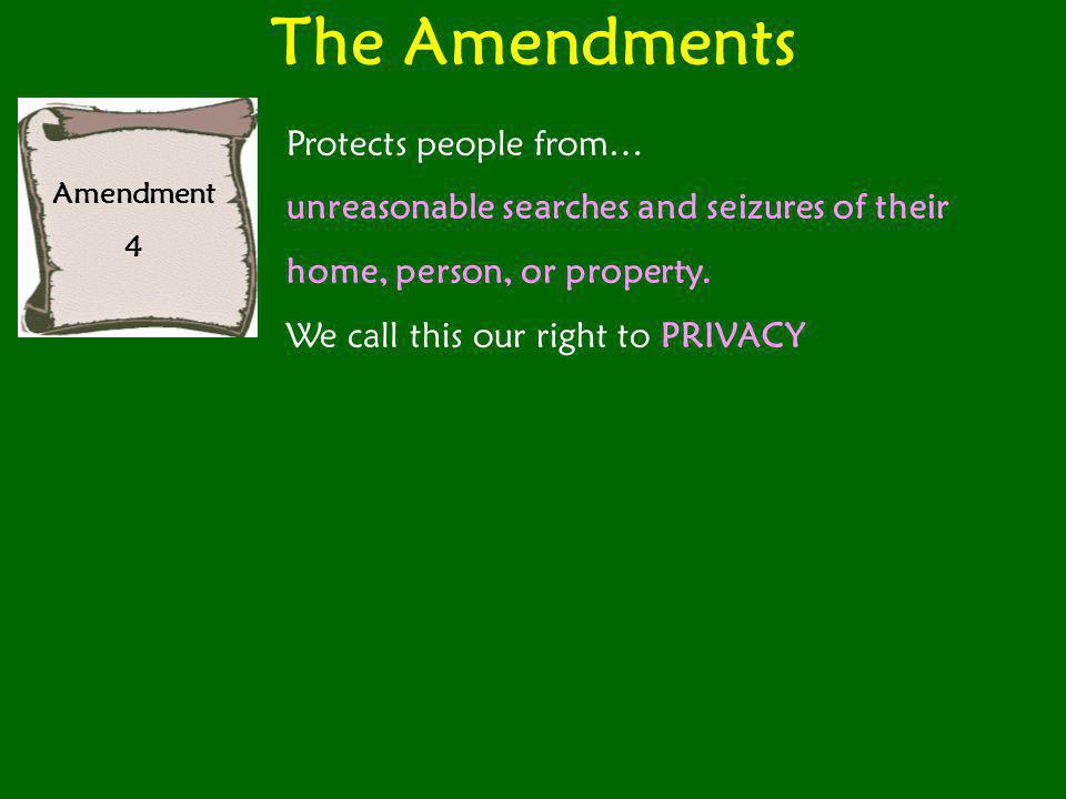 The Amendments Protects people from…