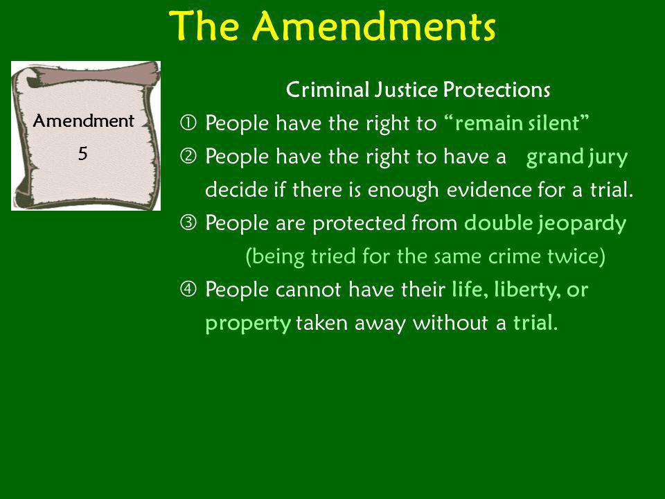 Criminal Justice Protections