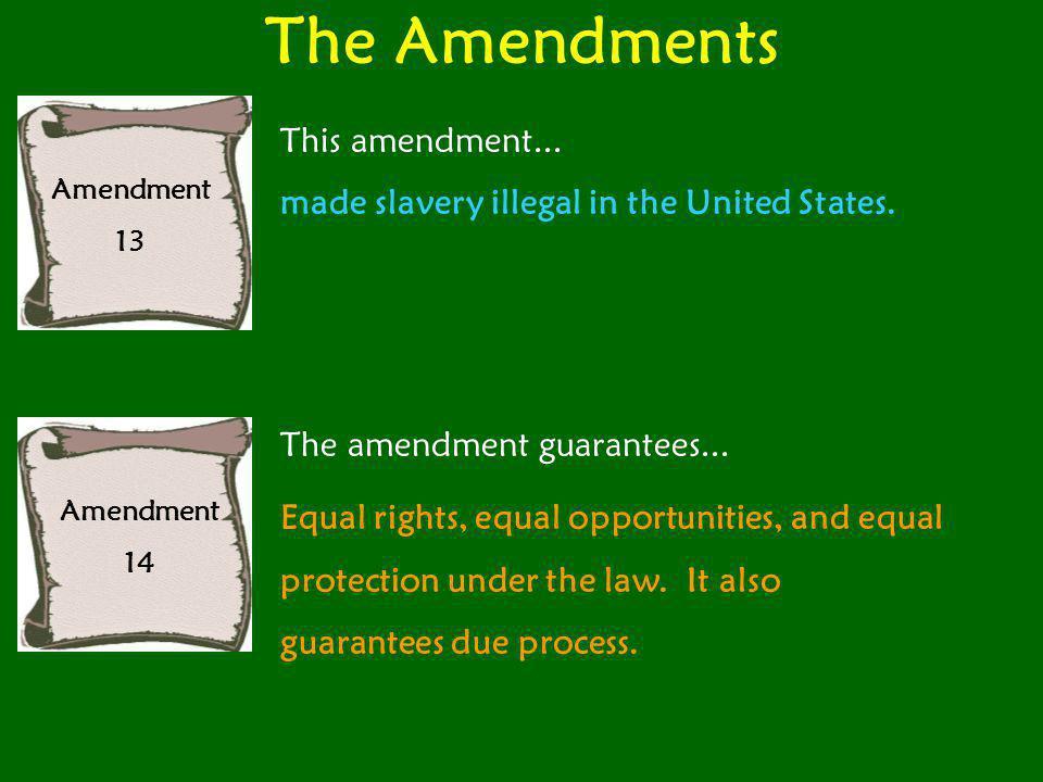 The Amendments This amendment...
