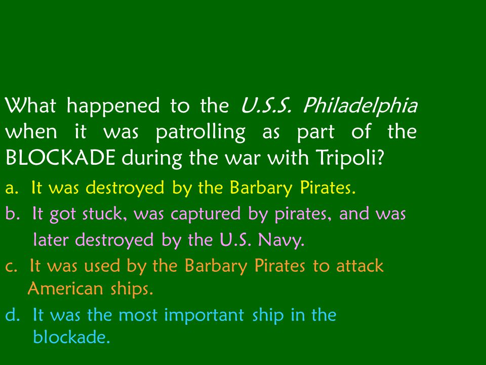 What happened to the U. S. S