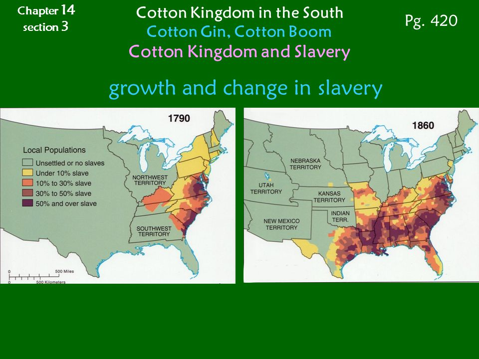 Cotton Kingdom in the South Cotton Kingdom and Slavery