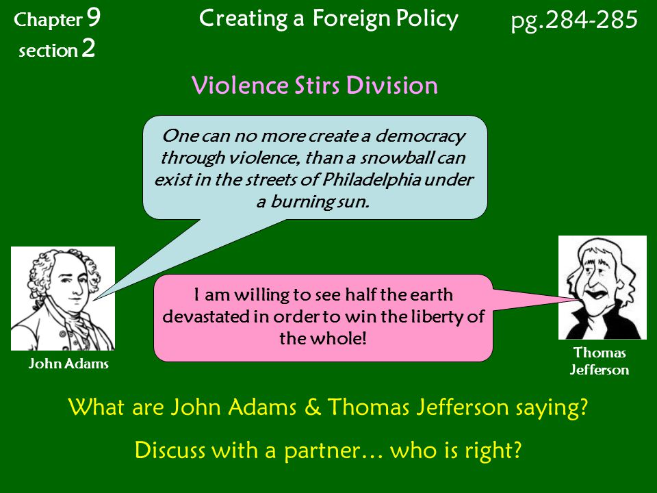 Creating a Foreign Policy Violence Stirs Division