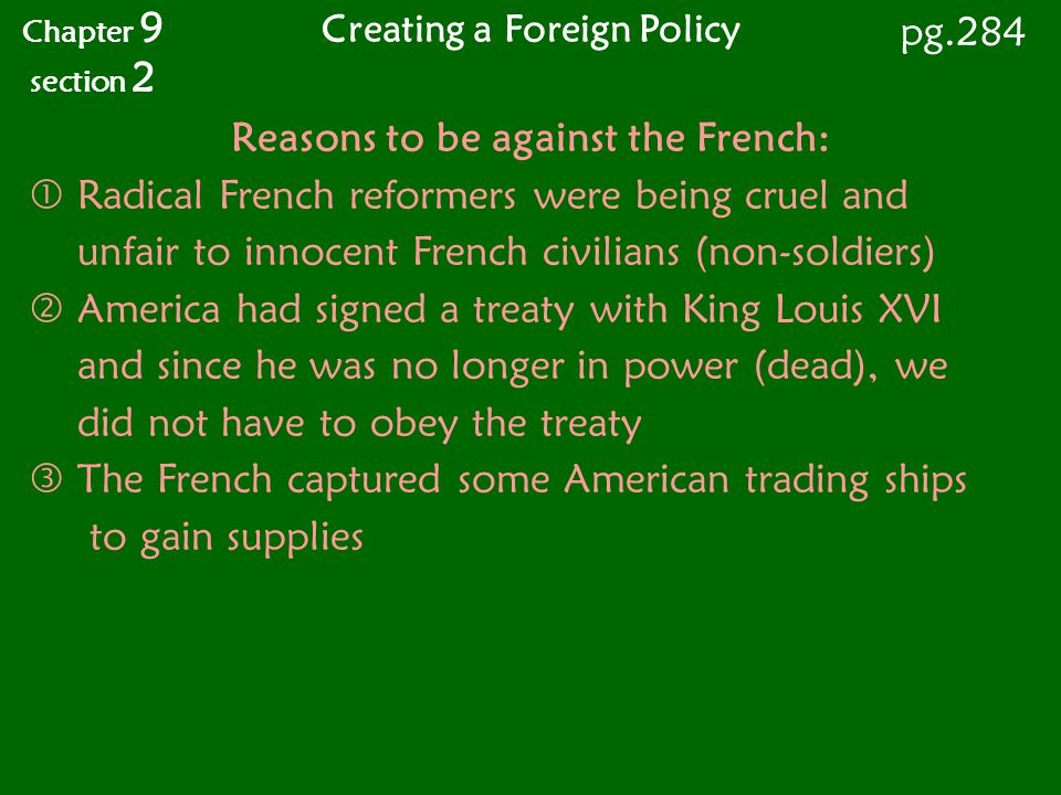 Creating a Foreign Policy