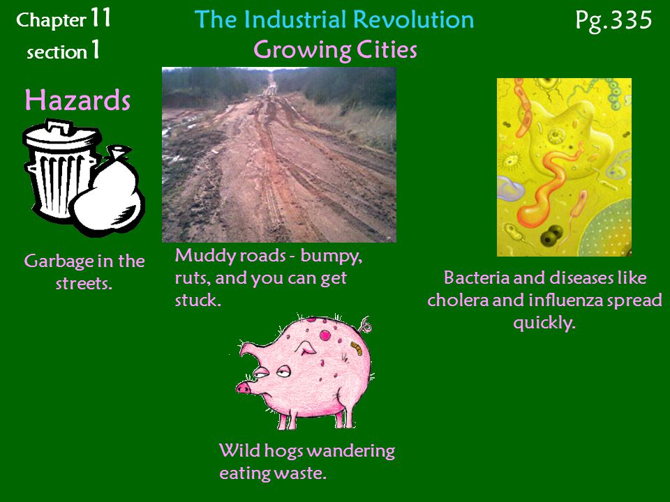 Hazards Pg.335 The Industrial Revolution Growing Cities Chapter 11