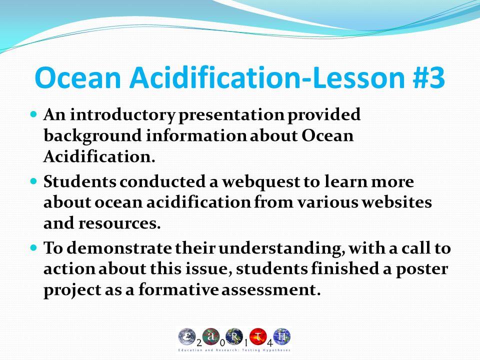 Ocean Acidification-Lesson #3