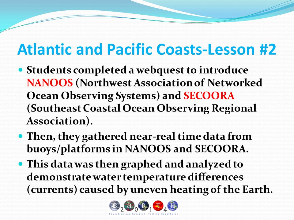 Atlantic and Pacific Coasts-Lesson #2