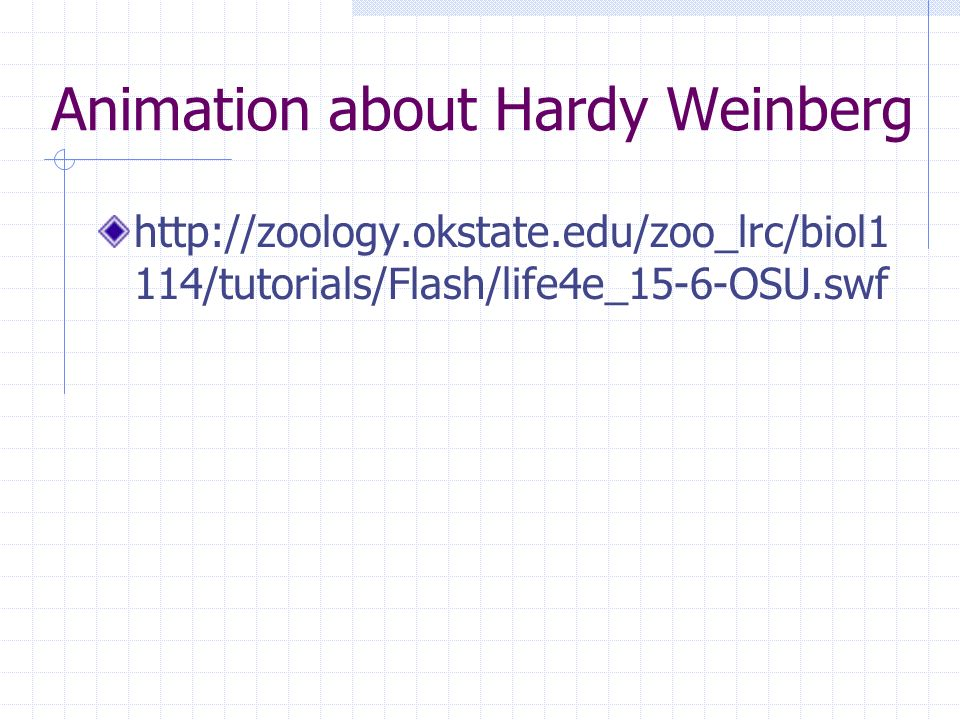 Animation about Hardy Weinberg