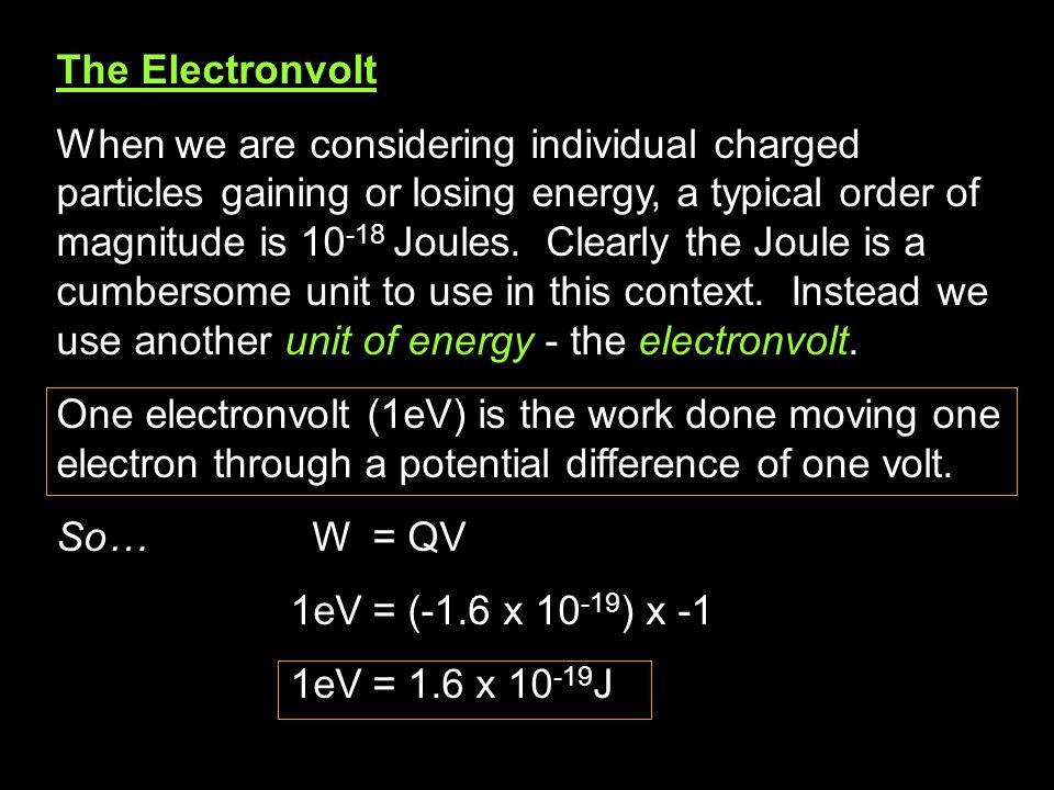 The Electronvolt