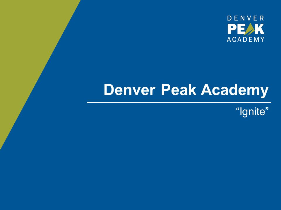 Denver Peak Academy Ignite