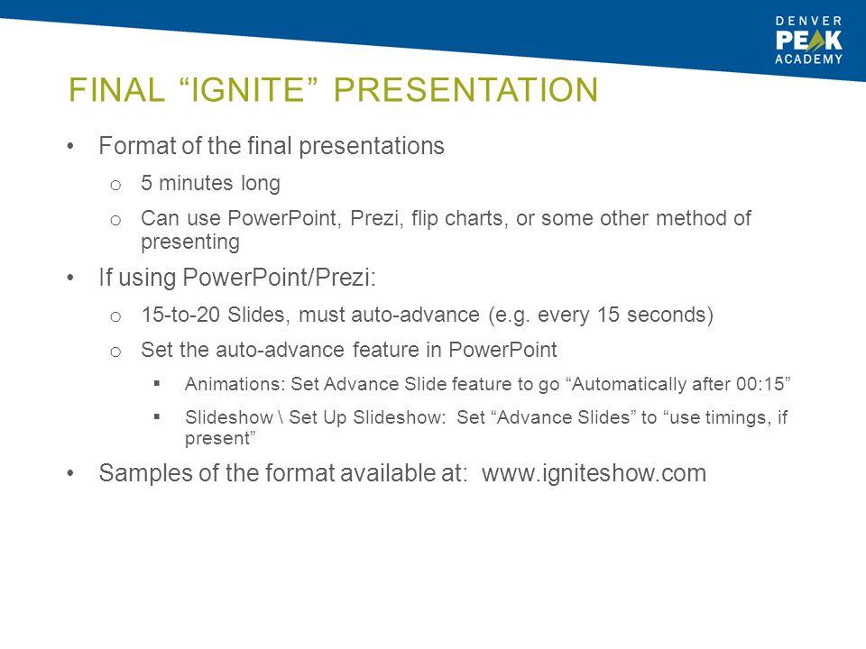 Final Ignite Presentation