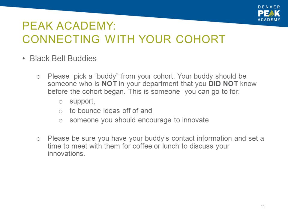 Peak Academy: Connecting with your cohort