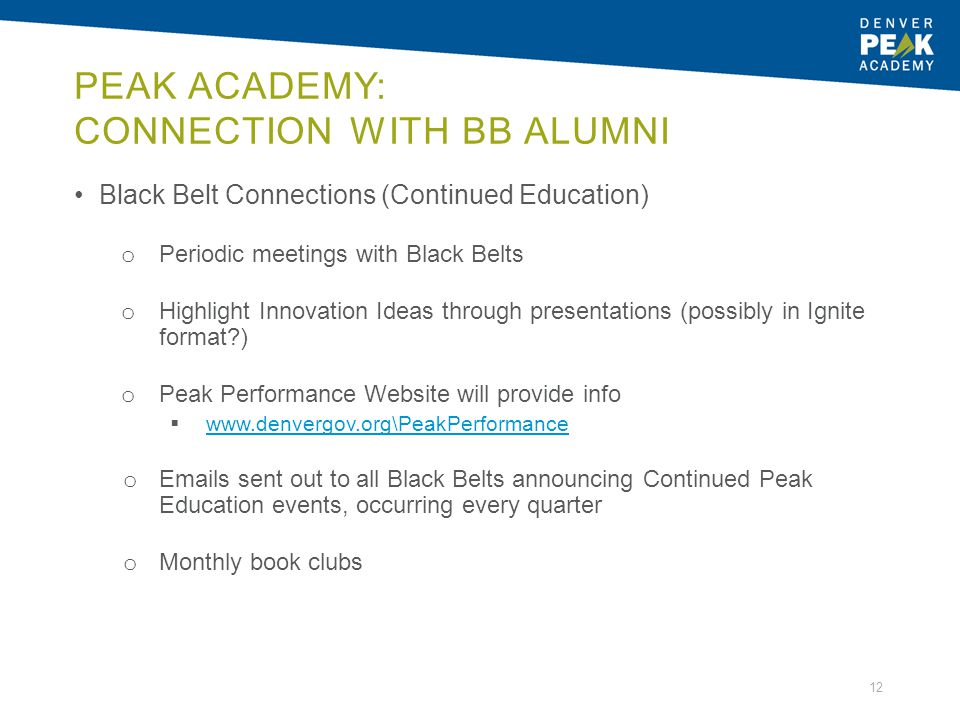 Peak Academy: Connection with BB Alumni