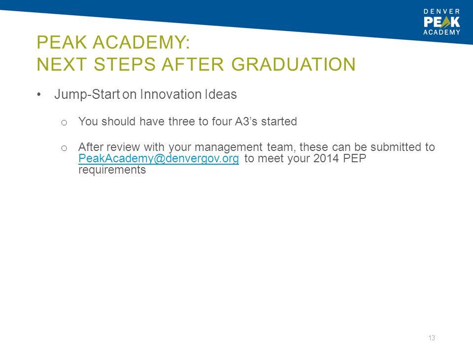 Peak Academy: Next Steps after Graduation