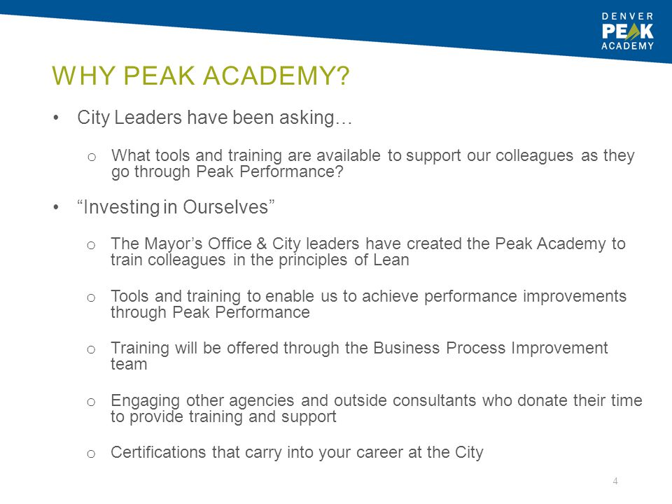 Why Peak Academy City Leaders have been asking…
