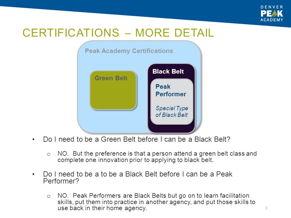 Certifications – More Detail