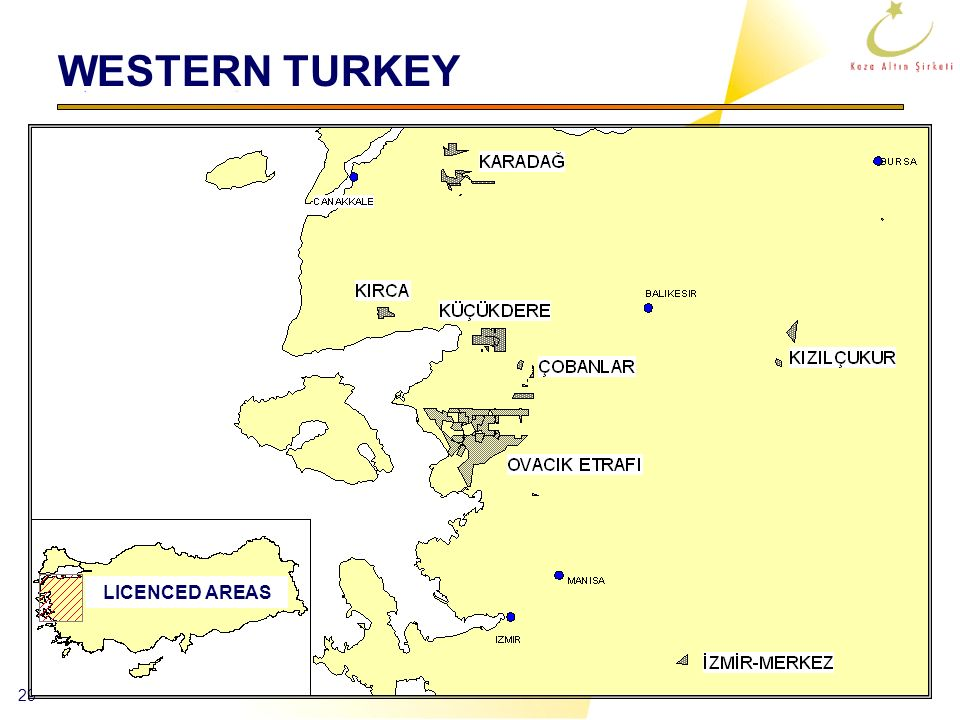 WESTERN TURKEY LICENCED AREAS