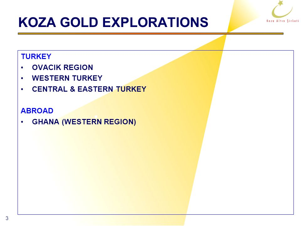 KOZA GOLD EXPLORATIONS