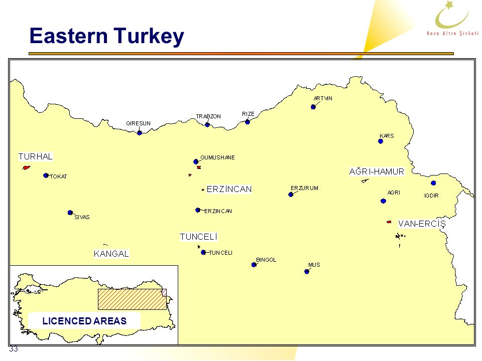 Eastern Turkey LICENCED AREAS