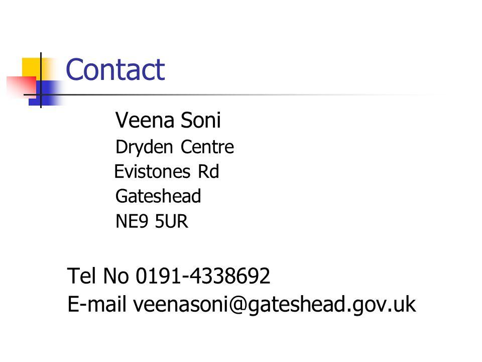 Contact Veena Soni Tel No 0191-4338692