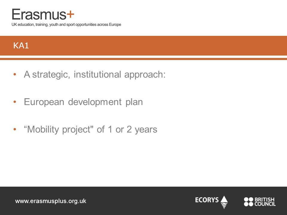 A strategic, institutional approach: European development plan