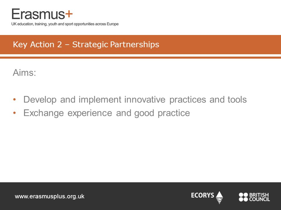 Key Action 2 – Strategic Partnerships