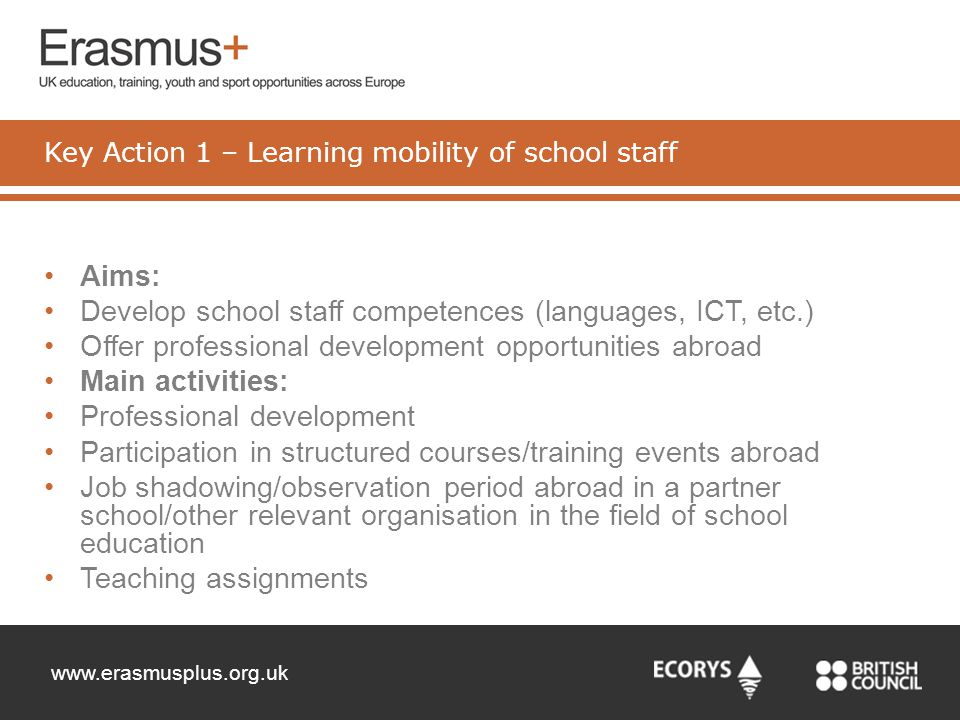 Key Action 1 – Learning mobility of school staff