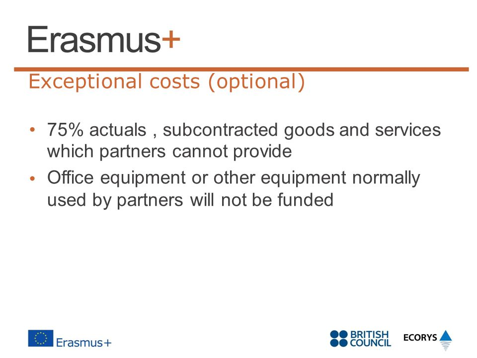 Exceptional costs (optional)