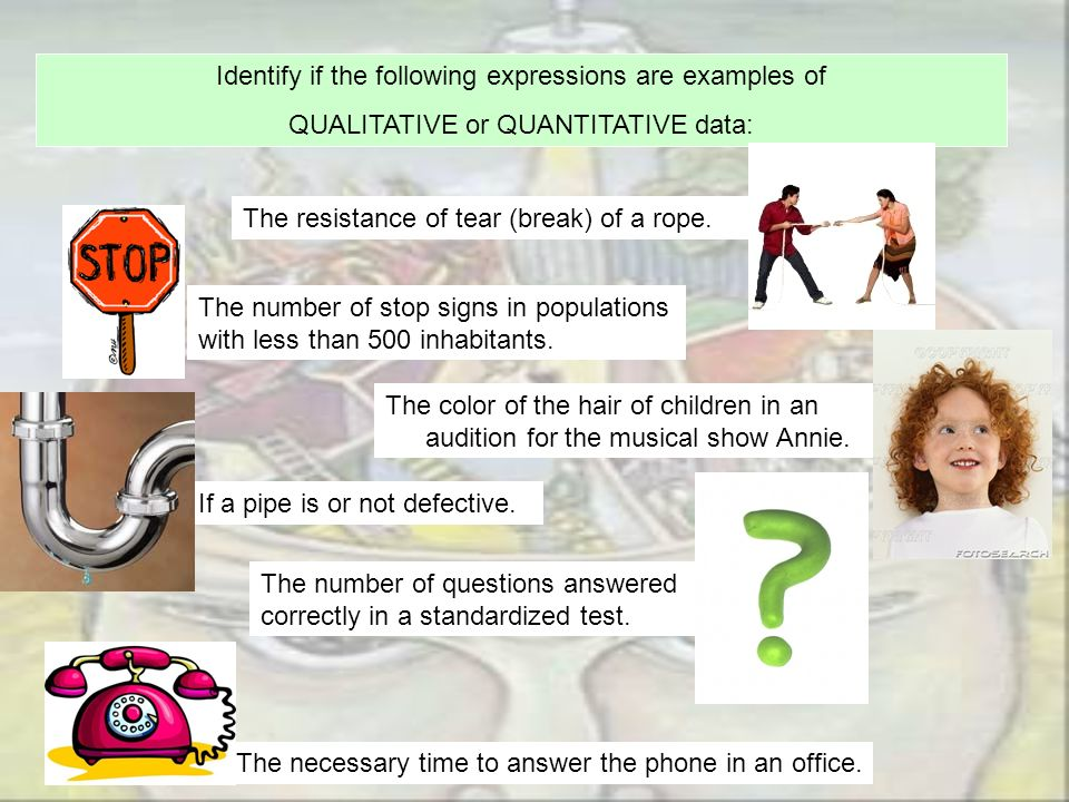Identify if the following expressions are examples of