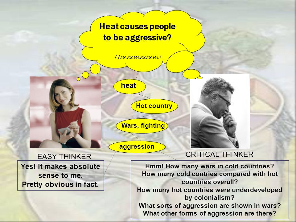 Heat causes people to be aggressive