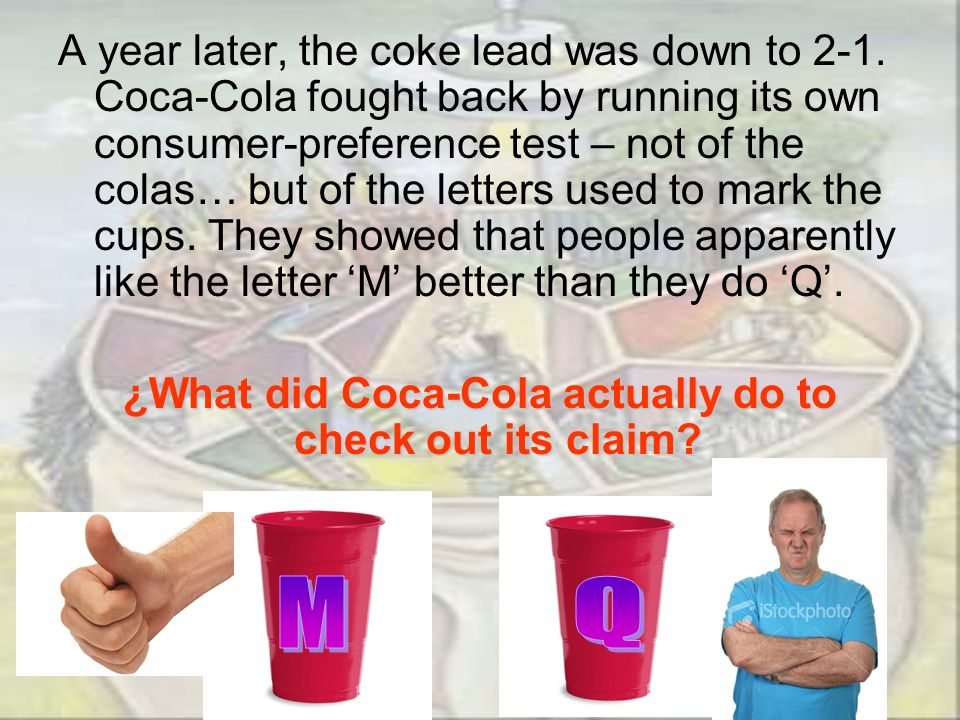 ¿What did Coca-Cola actually do to check out its claim