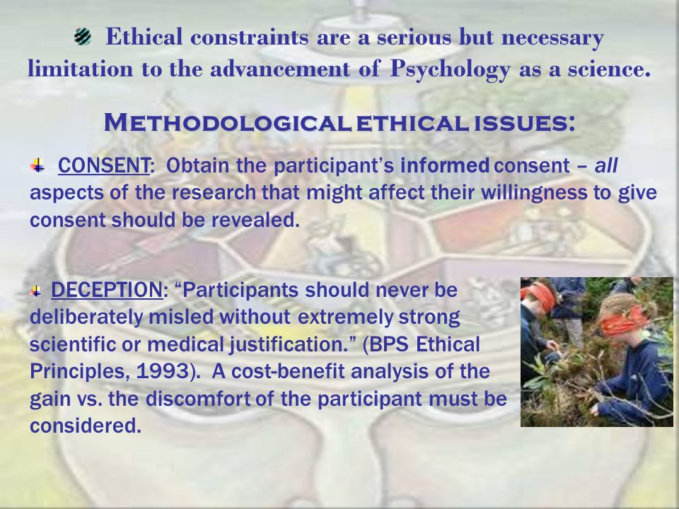 Methodological ethical issues: