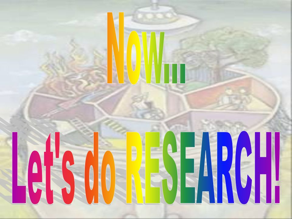 Now... Let s do RESEARCH!