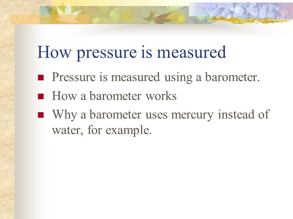 How pressure is measured