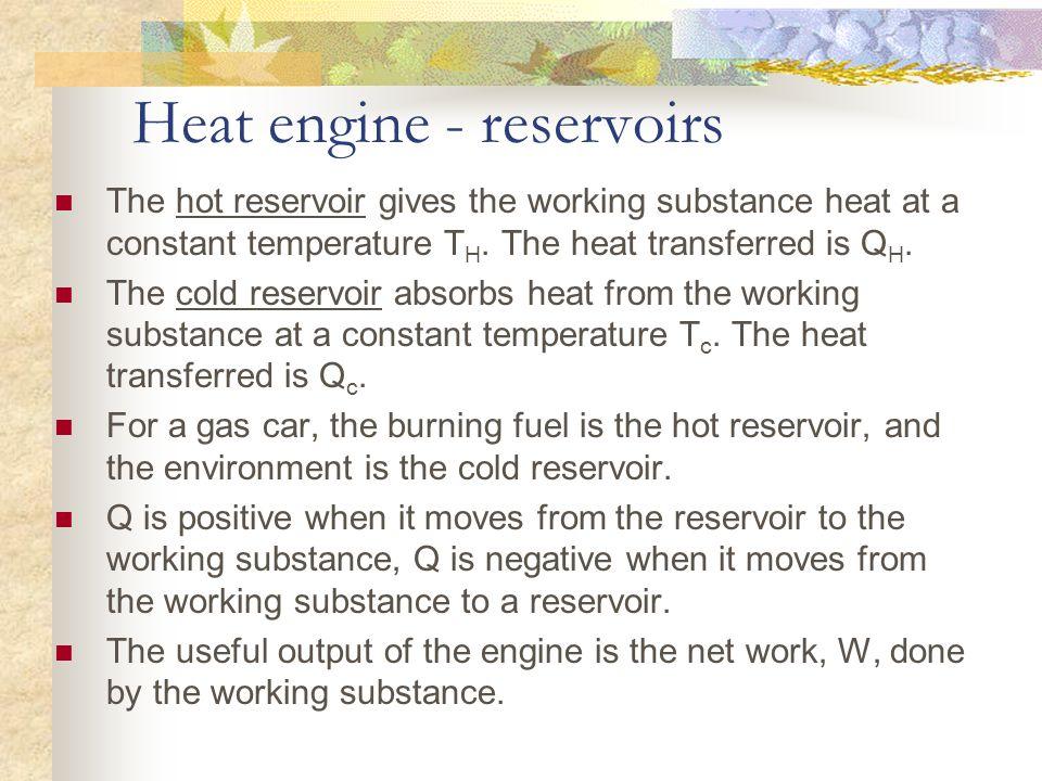 Heat engine - reservoirs