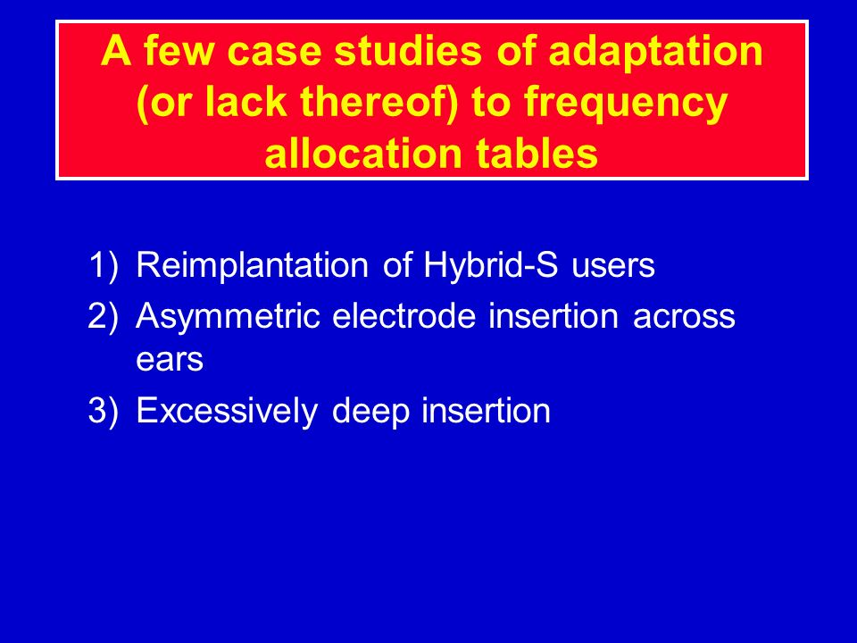 A few case studies of adaptation (or lack thereof) to frequency allocation tables