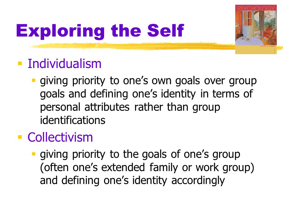 Exploring the Self Individualism Collectivism