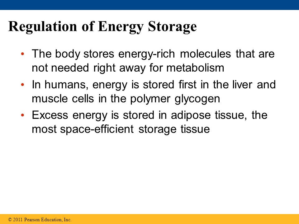 Regulation of Energy Storage