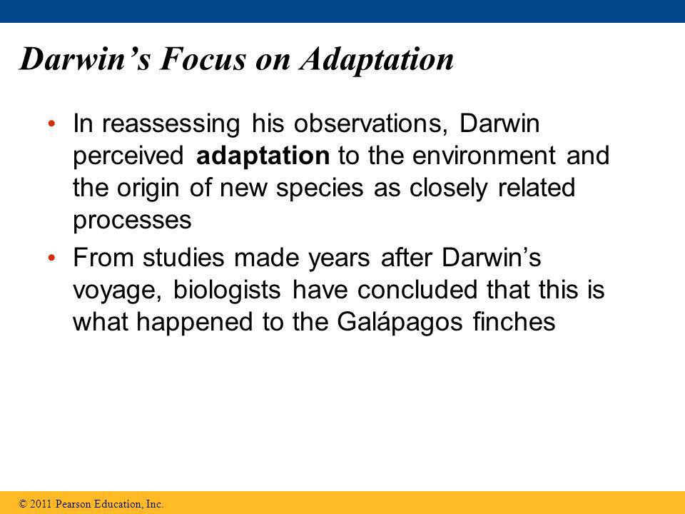 Darwin's Focus on Adaptation