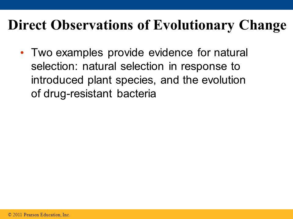 Direct Observations of Evolutionary Change