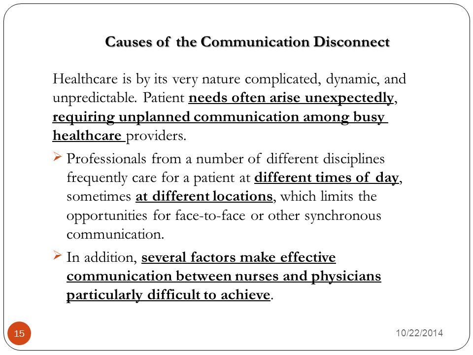 Causes of the Communication Disconnect