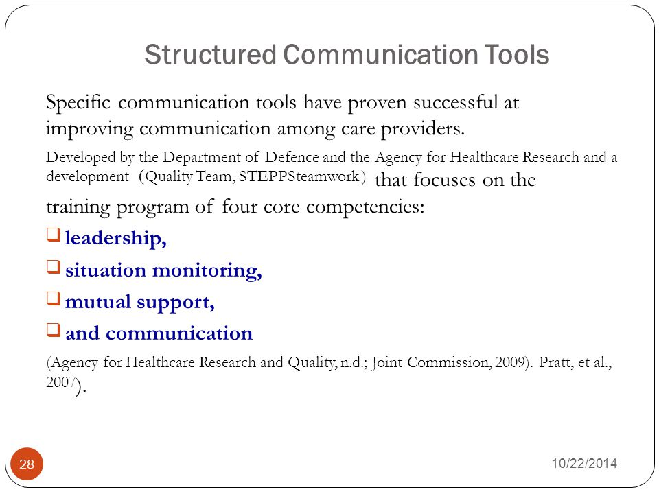 Structured Communication Tools