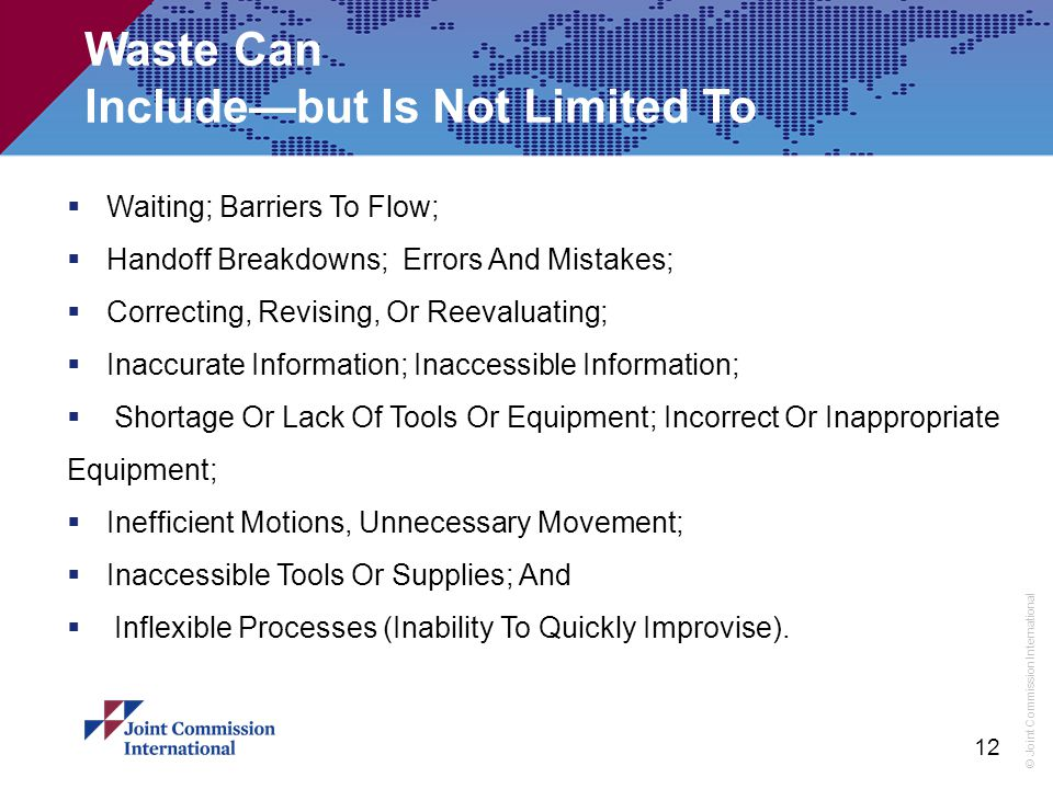 Waste Can Include—but Is Not Limited To