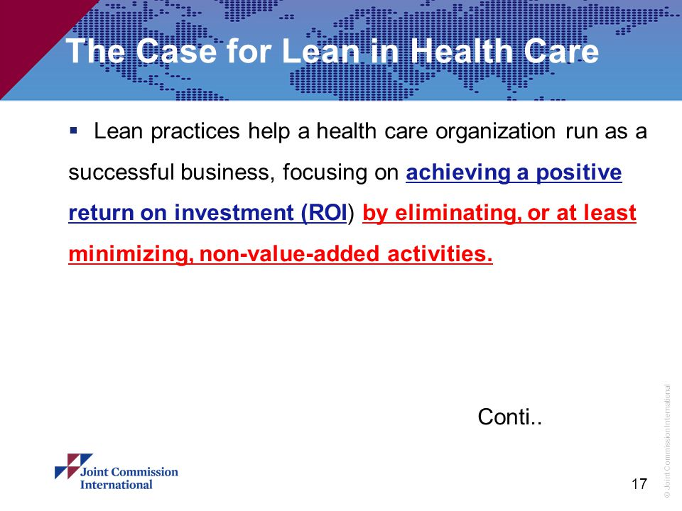 The Case for Lean in Health Care