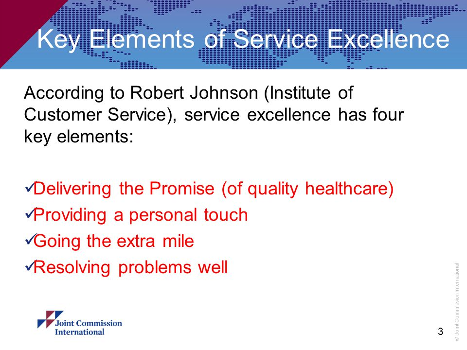 Key Elements of Service Excellence