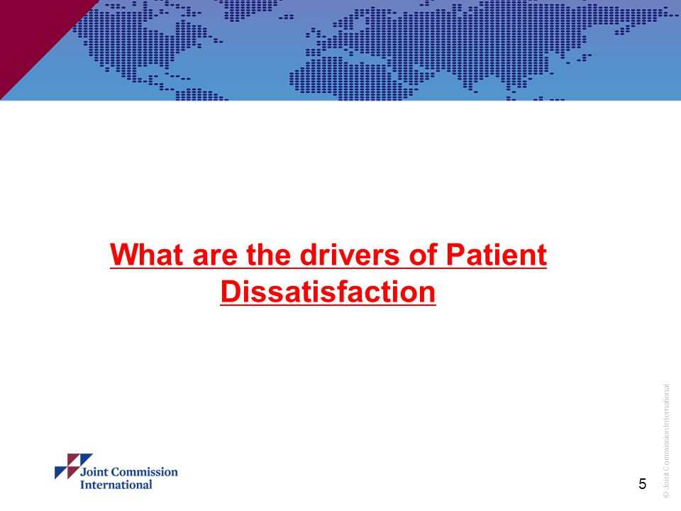 What are the drivers of Patient Dissatisfaction